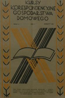 Kursy Korespondencyjne Gospodarstwa Domowego. R.2, 1931, Zeszyt33