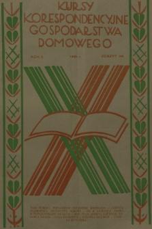 Kursy Korespondencyjne Gospodarstwa Domowego. R.2, 1931, Zeszyt35