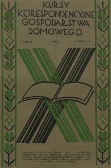 Kursy Korespondencyjne Gospodarstwa Domowego. R.2, 1931, Zeszyt38