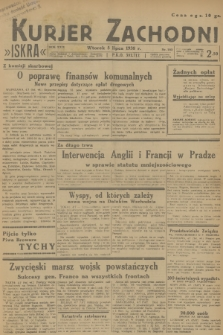 Kurjer Zachodni Iskra. R.29, 1938, nr182