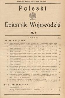 Poleski Dziennik Wojewódzki. 1939, nr5