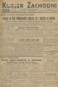 Kurjer Zachodni Iskra. R.29, 1938, nr321