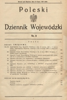 Poleski Dziennik Wojewódzki. 1939, nr8