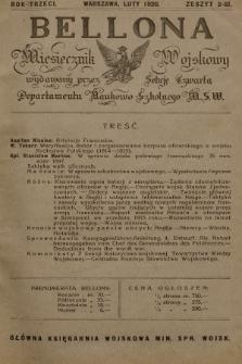 Bellona : miesięcznik wojskowy wydawany przez Sekcję Czwartą Departamentu Naukowo-Szkolnego M. S. W. R.3, 1920, Zeszyt2
