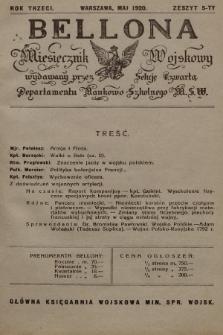 Bellona : miesięcznik wojskowy wydawany przez Sekcję Czwartą Departamentu Naukowo-Szkolnego M. S. W. R.3, 1920, Zeszyt5