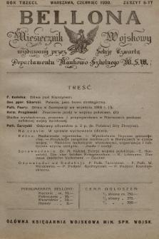 Bellona : miesięcznik wojskowy wydawany przez Sekcję Czwartą Departamentu Naukowo-Szkolnego M. S. W. R.3, 1920, Zeszyt6
