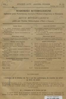 Wiadomości Meteorologiczne = Bulletin Mètèorologique. 1924, nr1-2
