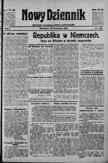 Nowy Dziennik. 1918 , nr122