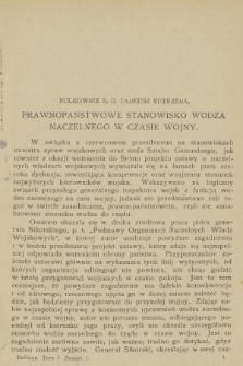Bellona : miesięcznik wojskowy wydawany przez Wojskowy Instytut Naukowo-Wydawniczy. R.7, T.13, 1924, Zeszyt1