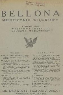 Bellona : miesięcznik wojskowy wydawany przez Wojskowy Instytut Naukowo-Wydawniczy. R.9, T.24, 1926, Zeszyt3