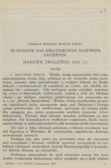 Bellona : miesięcznik wojskowy wydawany przez Wojskowy Instytut Naukowo-Wydawniczy. R.10, T.28, 1927, Zeszyt1