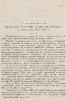 Bellona : miesięcznik wojskowy wydawany przez Wojskowy Instytut Naukowo-Wydawniczy. R.10 [i.e.11], T.29, 1928, Zeszyt1