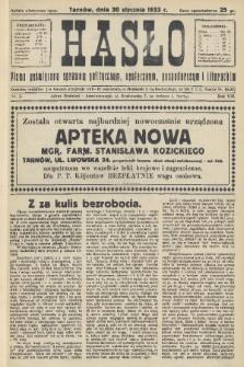 Hasło : pismo poświęcone sprawom politycznym, społecznym, gospodarczym i literackim. R.8, 1933, nr3