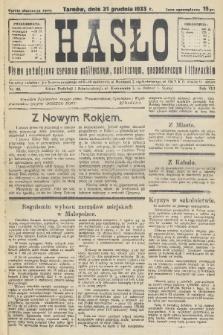 Hasło : pismo poświęcone sprawom politycznym, społecznym, gospodarczym i literackim. R.8, 1933, nr49