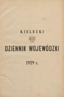 Kielecki Dziennik Wojewódzki. 1929, skorowidz alfabetyczny