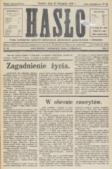 Hasło : pismo poświęcone sprawom politycznym, społecznym, gospodarczym i literackim. R.10, 1935, nr46