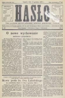 Hasło : pismo poświęcone sprawom politycznym, społecznym, gospodarczym i literackim. R.10, 1935, nr48