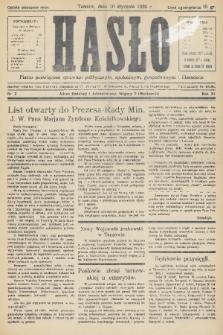 Hasło : pismo poświęcone sprawom politycznym, społecznym, gospodarczym i literackim. R.11, 1936, nr2