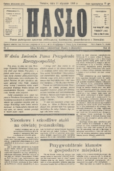 Hasło : pismo poświęcone sprawom politycznym, społecznym, gospodarczym i literackim. R.11, 1936, nr4