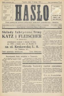 Hasło : pismo poświęcone sprawom politycznym, społecznym, gospodarczym i literackim. R.11, 1936, nr5