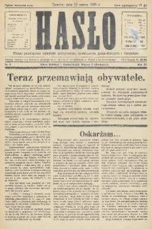 Hasło : pismo poświęcone sprawom politycznym, społecznym, gospodarczym i literackim. R.11, 1936, nr9