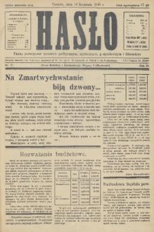 Hasło : pismo poświęcone sprawom politycznym, społecznym, gospodarczym i literackim. R.11, 1936, nr12