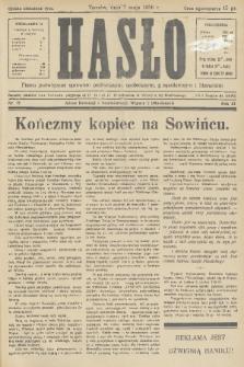 Hasło : pismo poświęcone sprawom politycznym, społecznym, gospodarczym i literackim. R.11, 1936, nr15