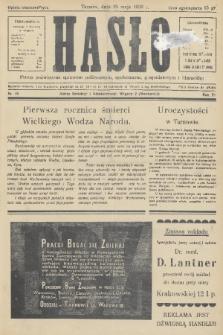 Hasło : pismo poświęcone sprawom politycznym, społecznym, gospodarczym i literackim. R.11, 1936, nr16