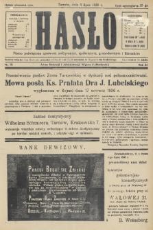 Hasło : pismo poświęcone sprawom politycznym, społecznym, gospodarczym i literackim. R.11, 1936, nr22