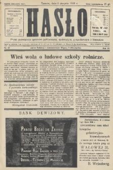 Hasło : pismo poświęcone sprawom politycznym, społecznym, gospodarczym i literackim. R.11, 1936, nr24