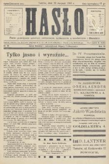 Hasło : pismo poświęcone sprawom politycznym, społecznym, gospodarczym i literackim. R.11, 1936, nr25