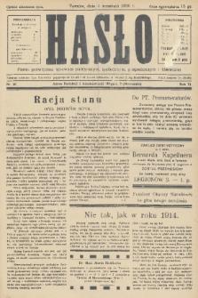 Hasło : pismo poświęcone sprawom politycznym, społecznym, gospodarczym i literackim. R.11, 1936, nr26