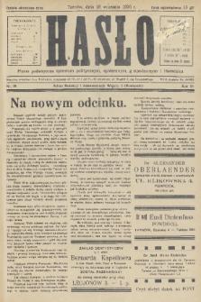 Hasło : pismo poświęcone sprawom politycznym, społecznym, gospodarczym i literackim. R.11, 1936, nr28