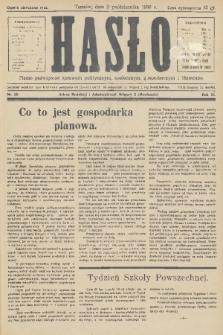 Hasło : pismo poświęcone sprawom politycznym, społecznym, gospodarczym i literackim. R.11, 1936, nr30
