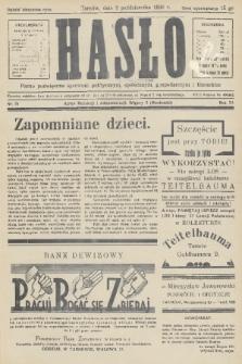 Hasło : pismo poświęcone sprawom politycznym, społecznym, gospodarczym i literackim. R.11, 1936, nr31