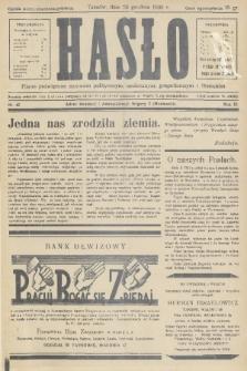 Hasło : pismo poświęcone sprawom politycznym, społecznym, gospodarczym i literackim. R.11, 1936, nr40
