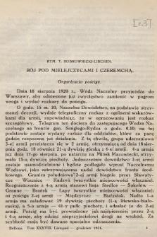 Bellona : dwumiesięcznik wojskowy wydawany przez Wojskowy Instytut Naukowo-Wydawniczy. R.13, T.38, 1931, Zeszyt3