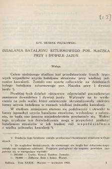 Bellona : dwumiesięcznik wojskowy wydawany przez Wojskowy Instytut Naukowo-Wydawniczy. R.14, T.39, 1932, Zeszyt2