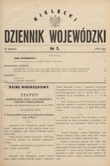 Kielecki Dziennik Wojewódzki. 1929, nr2