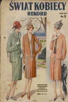 Świat Kobiecy. R.7, 1927, nr5 + wkładka