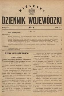 Kielecki Dziennik Wojewódzki. 1929, nr3