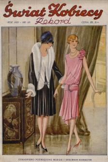 Świat Kobiecy. R.7, 1927, nr23 + wkładka