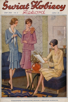 Świat Kobiecy. R.8, 1928, nr5 + wkładka