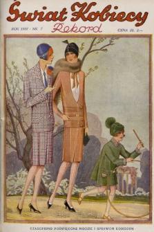 Świat Kobiecy. R.8, 1928, nr7 + wkładka