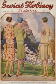 Świat Kobiecy. R.8, 1928, nr9