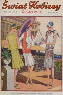 Świat Kobiecy. R.8, 1928, nr13 + dod. + wkładka