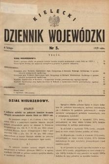 Kielecki Dziennik Wojewódzki. 1929, nr5