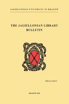 The Jagiellonian Library Bulletin. Special Issue