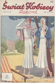 Świat Kobiecy. R.11, 1931, nr9