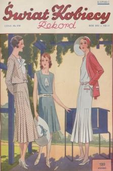 Świat Kobiecy. R.11, 1931, nr13